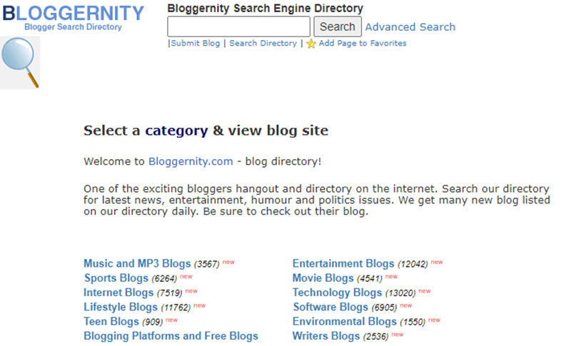 Bloggernity Blog Submission Sites