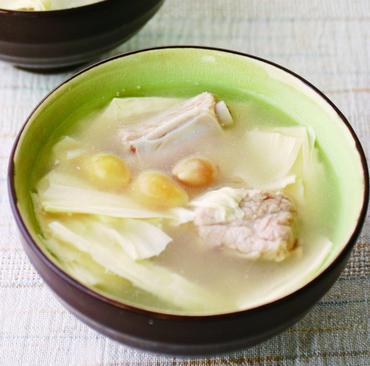 【食譜】白果腐竹排骨湯:www.ytower.com.tw