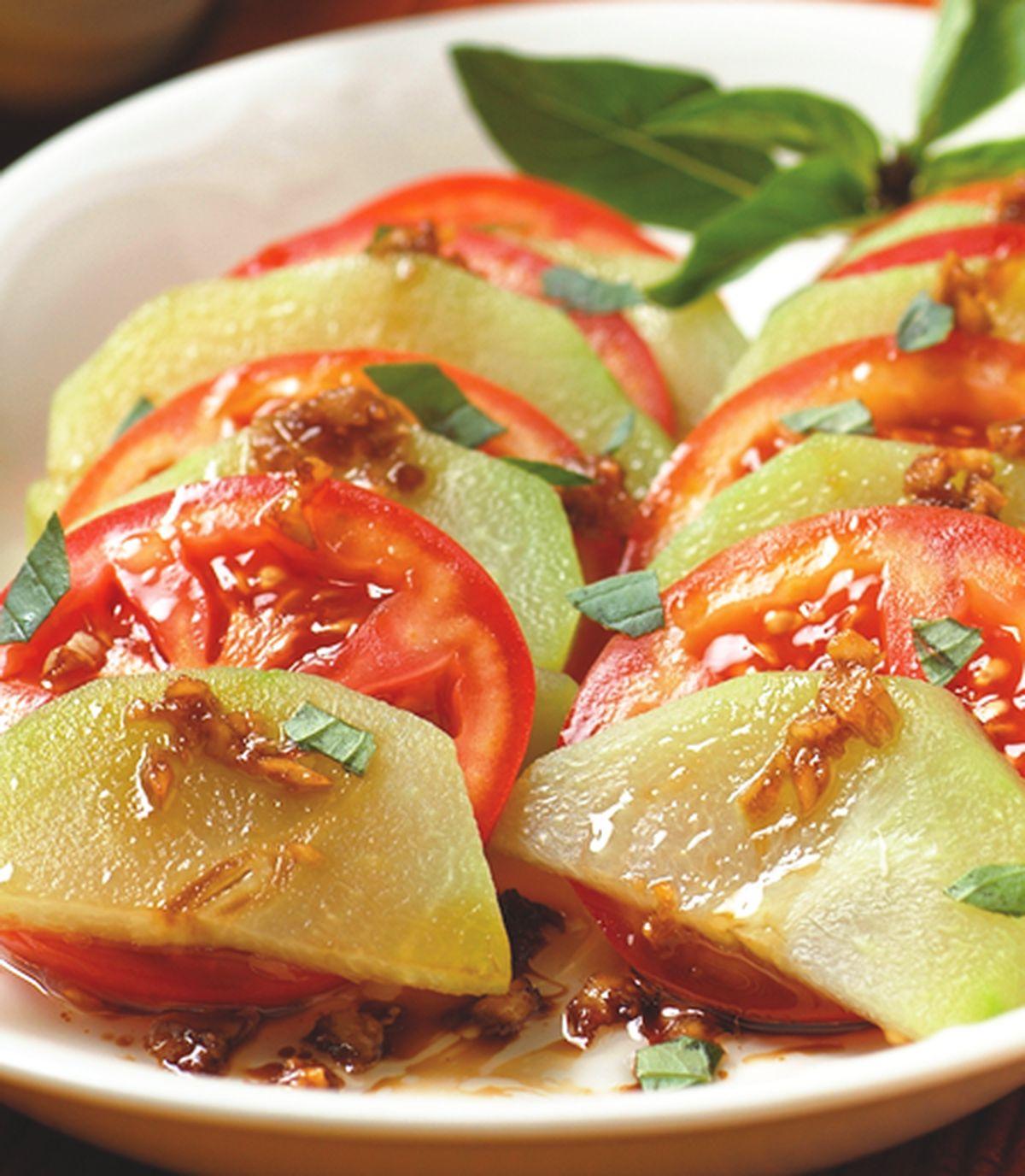 【食譜】涼拌紅茄佛手瓜:www.ytower.com.tw