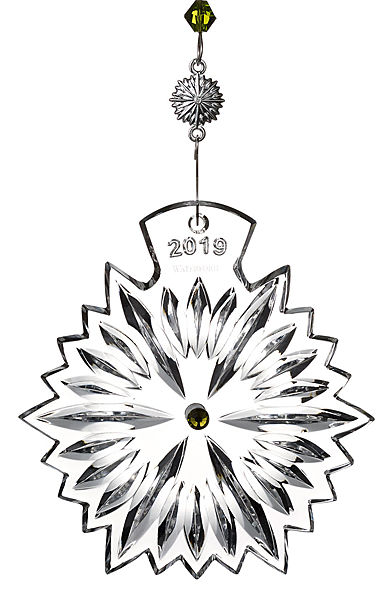 Waterford Crystal, Snowflake Wishes Prosperity Ornament