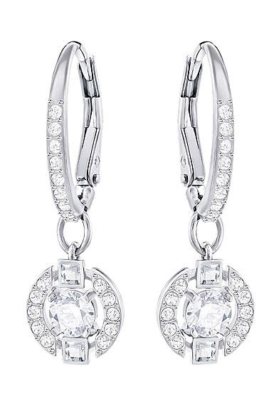 Swarovski Earrings Sparkling Dance Pierced Earrings Pair