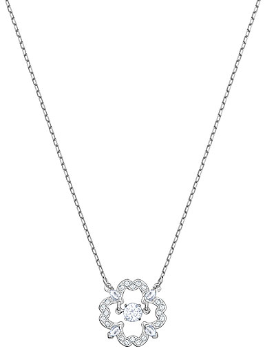 Swarovski Sparkling Dance Pear Necklace, White, Rhodium
