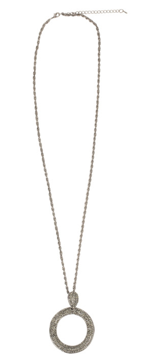 Eliza Gracious Nelly Necklace in Pewter