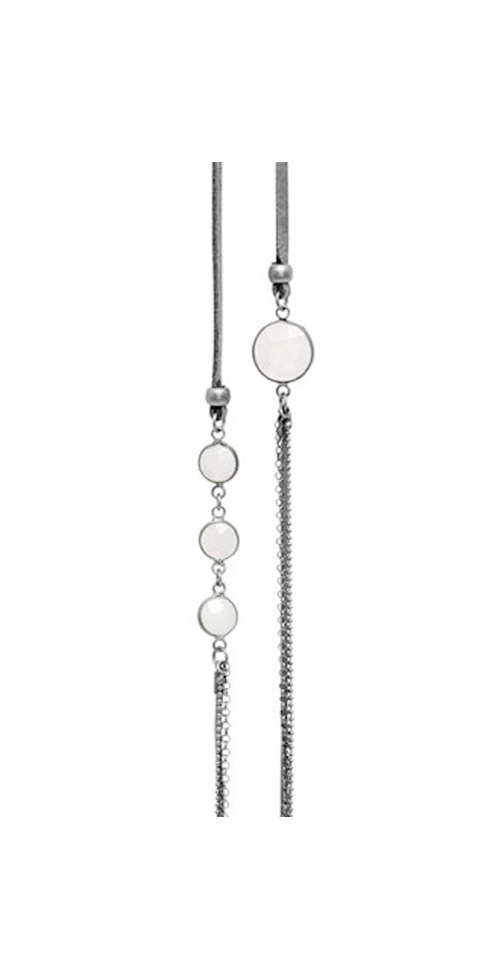 Dansk Smykkekunst Roxanne Long Necklace in Grey