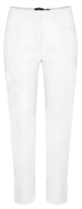 Robell Trousers Bella 7/8 Cropped Trouser in White