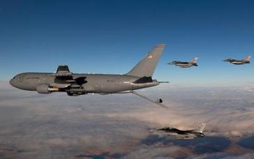 KC-46A with F-16