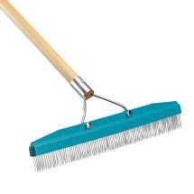 "Carlisle 4575100 18"" Carpet Rake With Nylon Bristles & 54"