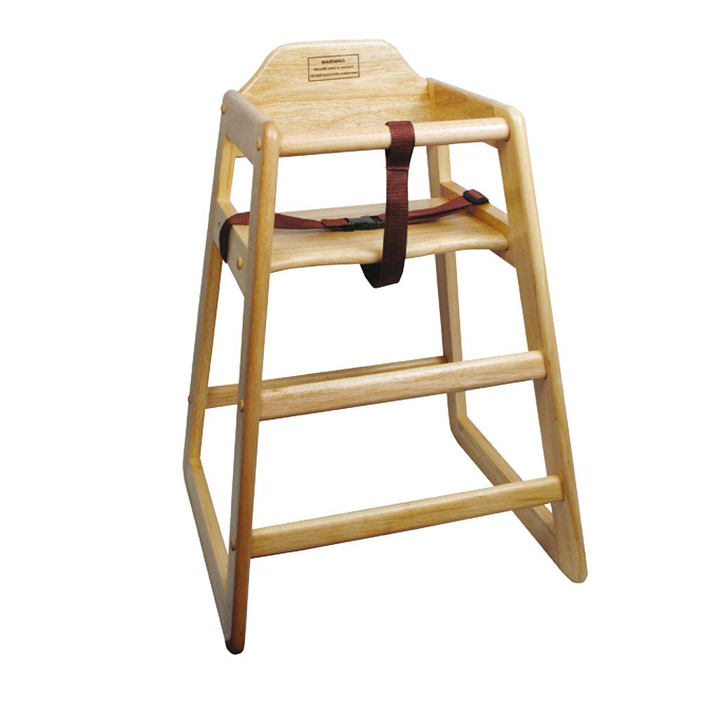 Winco CHH101A 2975 Stackable High Chair w Waist Strap