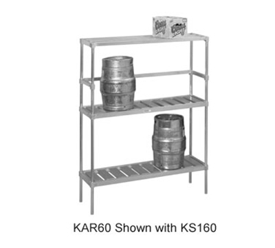 Channel KAR60 Storage Rack w/ 6-Keg Capacity, Aluminum