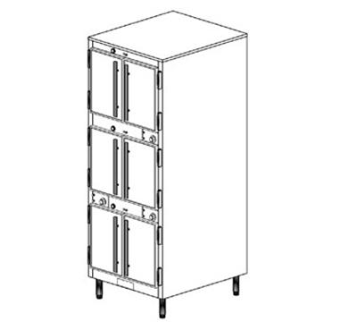 Duke 1253P 2083 Pass Thru Heated Holding Cabinet, 1