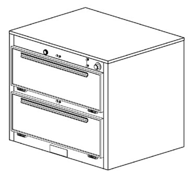 Duke 1352 2403 Reach In Heated Holding Cabinet, 1