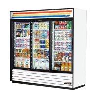 "True GDM-69-LD 78"" Three-section Glass Door Merchandiser w ..."