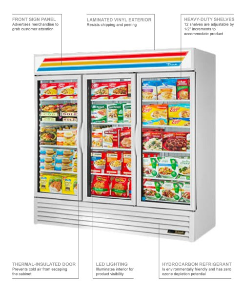 small resolution of true refrigeration gdm72f features