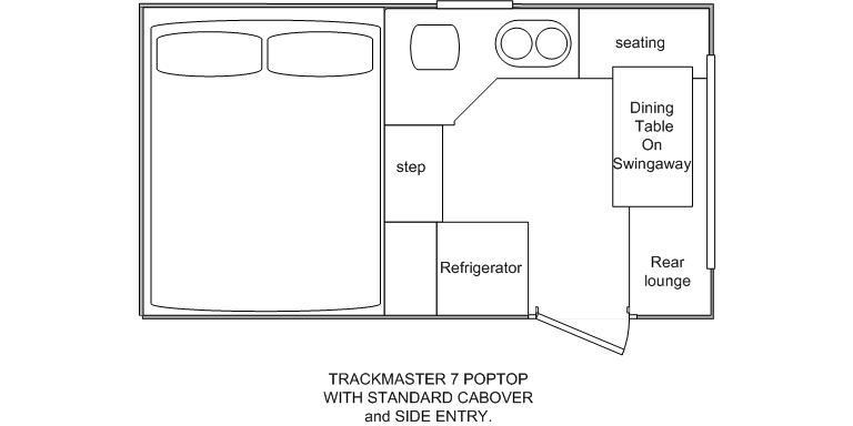 New NORTHSTAR TRACKMASTER 7 SIDE DOOR POPTOP CAMPER Camper