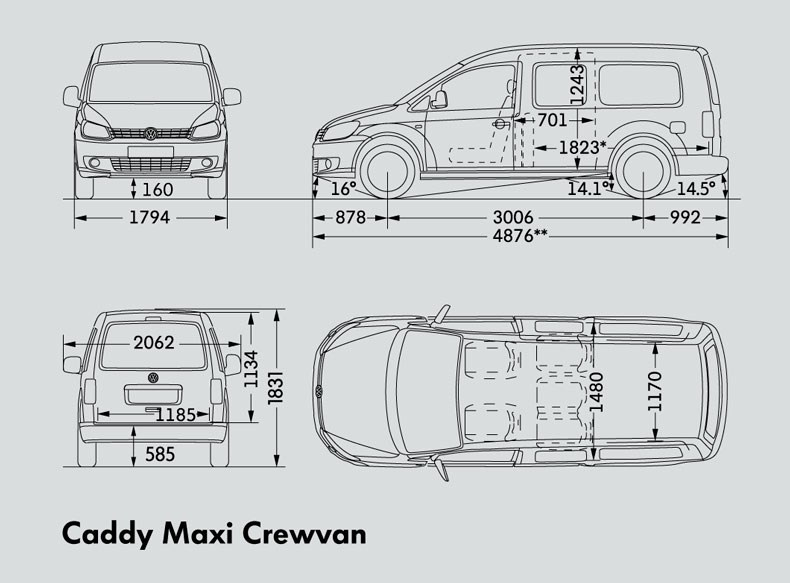 New VOLKSWAGEN CADDY MAXI CREWVAN Light Commercial for sale