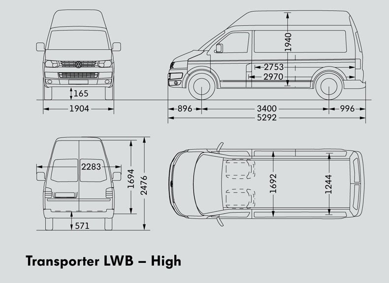 New VOLKSWAGEN TRANSPORTER LWB VAN Light Commercial for sale