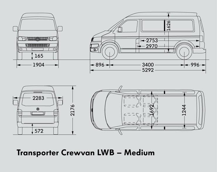 New VOLKSWAGEN TRANSPORTER LWB CREWVAN Light Commercial