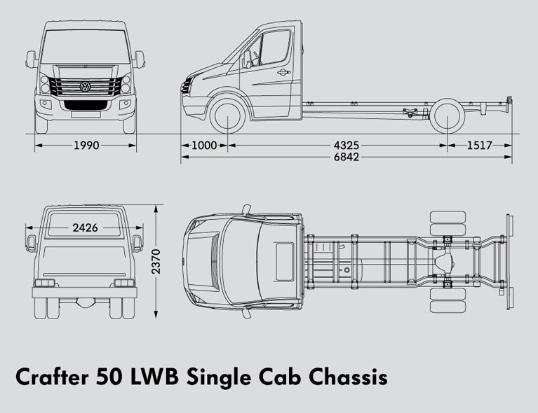 New VOLKSWAGEN CRAFTER 50 (SINGLE CAB CHASSIS) Light