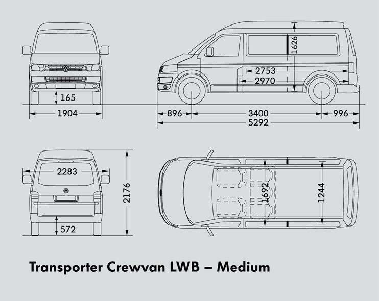 New VOLKSWAGEN TRANSPORTER LWB CREWVAN Light Commercial