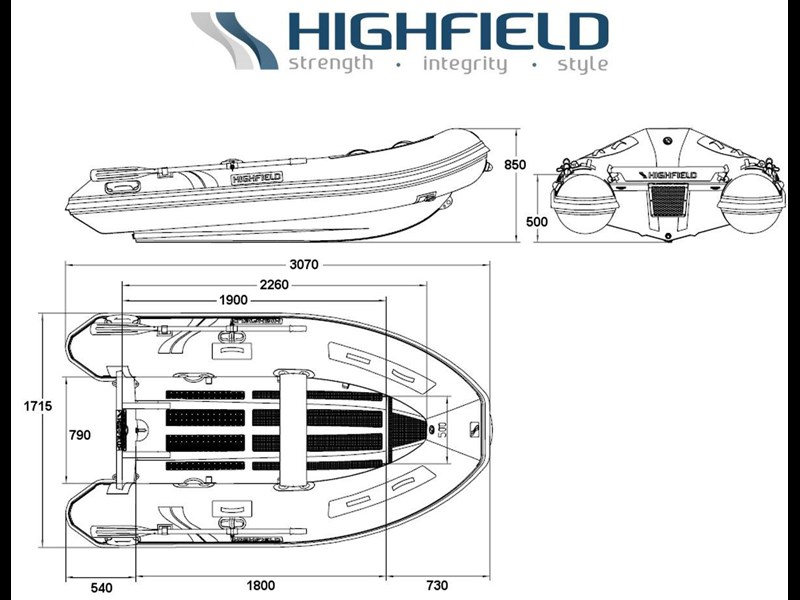 2019 HIGHFIELD 3.1M CLASSIC INFLATABLE Classic for sale