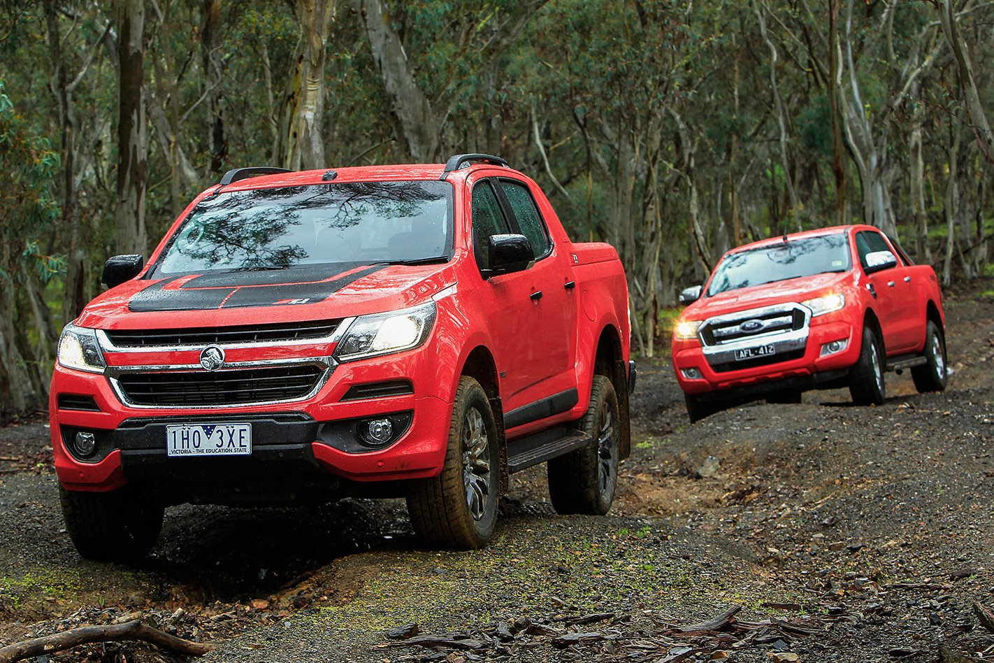 hight resolution of holden colorado z71 vs ford ranger xlt comparison review