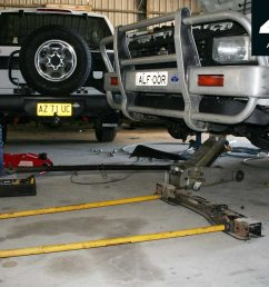 with plenty of towing and bush work in its future i wanted to fit the tjm series 2000 torsion bars and four inch taller dobinson coils from my  [ 1422 x 948 Pixel ]