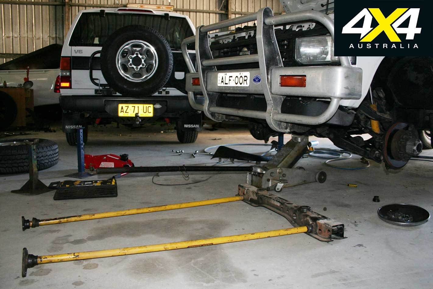 hight resolution of with plenty of towing and bush work in its future i wanted to fit the tjm series 2000 torsion bars and four inch taller dobinson coils from my