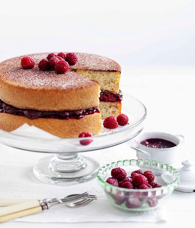 Hazelnut Sponge With Chocolate Raspberry Cream Recipe