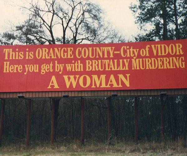 Real-life billboard in Vidor, Texas.