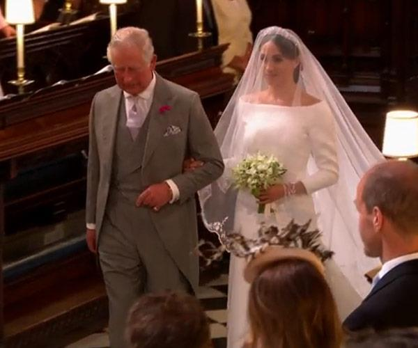 Prince Charles walked his now daughter-in-law down the aisle after being asked at the eleventh hour.