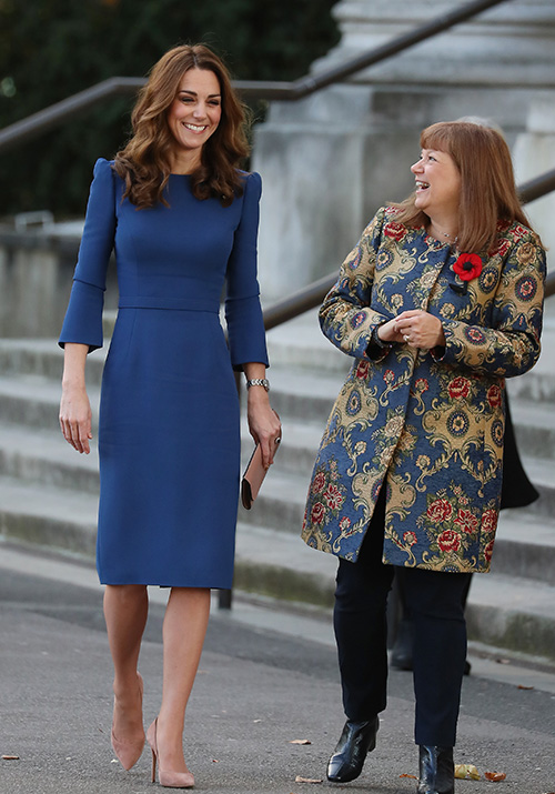 Duchess Catherine wore a recycled blue Jenny Packham dress earlier this month