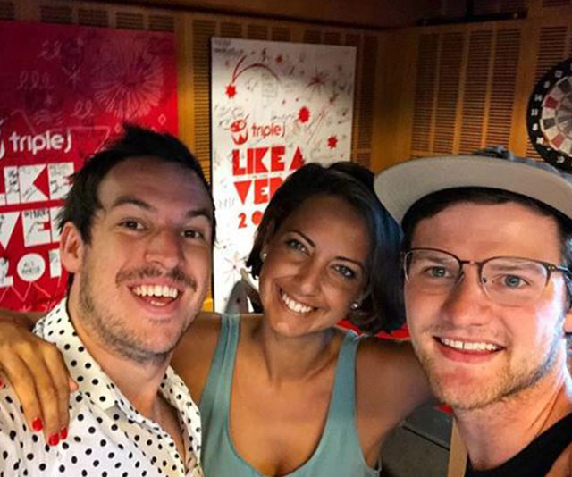 A nose for news: Brooke was a key player on Triple J's breakfast radio show with Ben and Liam. (Image: @boneybrooke Instagram)