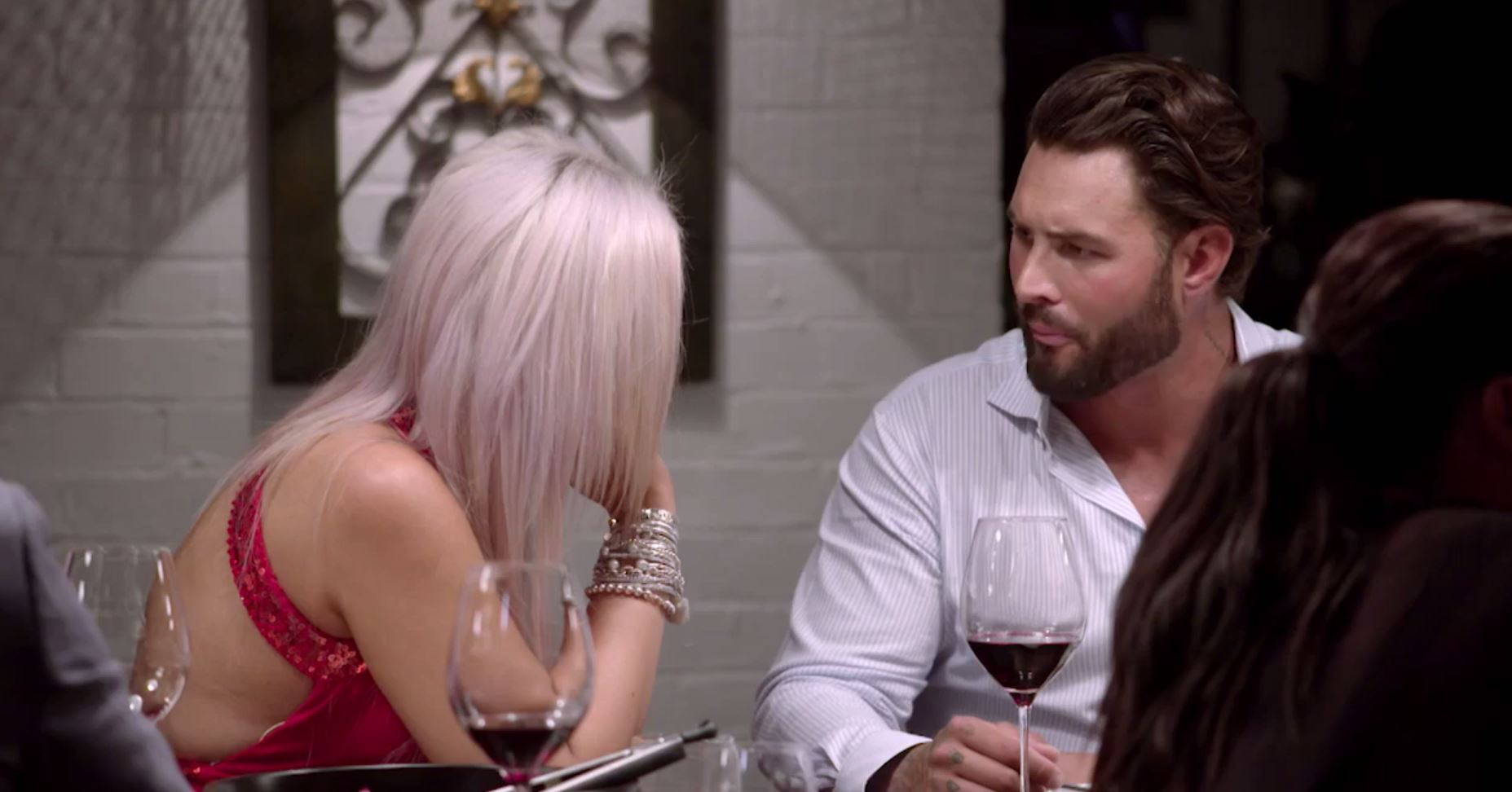 Intense: Liz was not buying Sam's excuses. (Source: Channel 9)