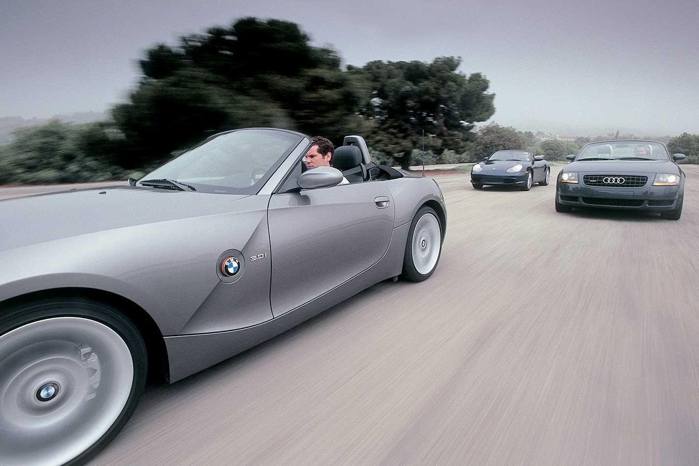 hight resolution of 2003 audi tt roadster vs bmw z4 vs porsche boxster comparison review classic motor