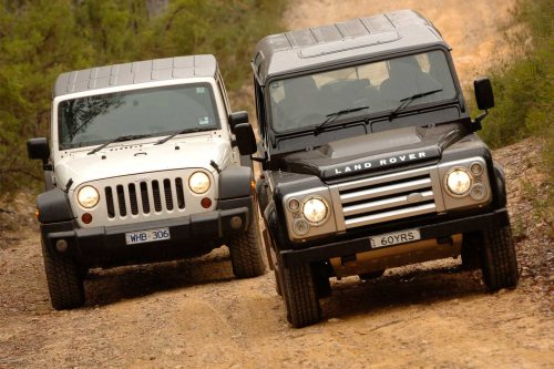 small resolution of 2009 land rover defender svx vs jeep wrangler unlimited 4x4 comparison review