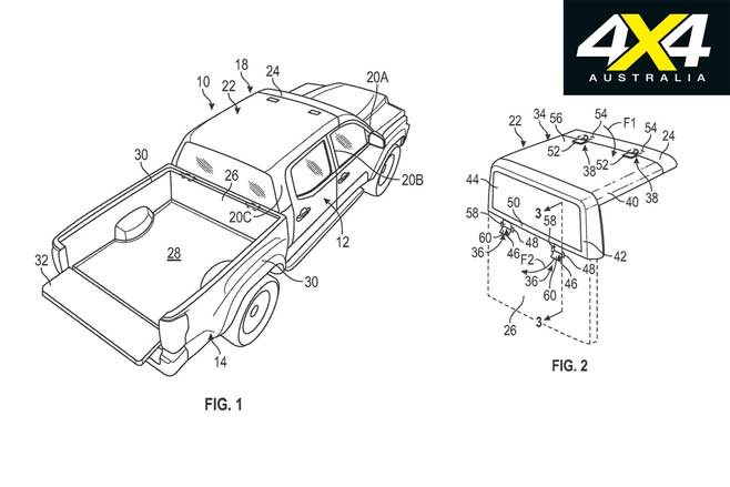 Diagrams hint at Ford Ranger with removable hard-top