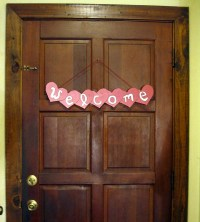 DIY Valentine's Day Door Decor
