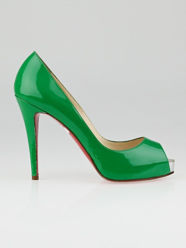 Christian Louboutin Green Patent Leather Prive 120