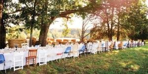 In the piedmont, a farm dinner inspires support for local businesses. Reidsville, North Carolina.