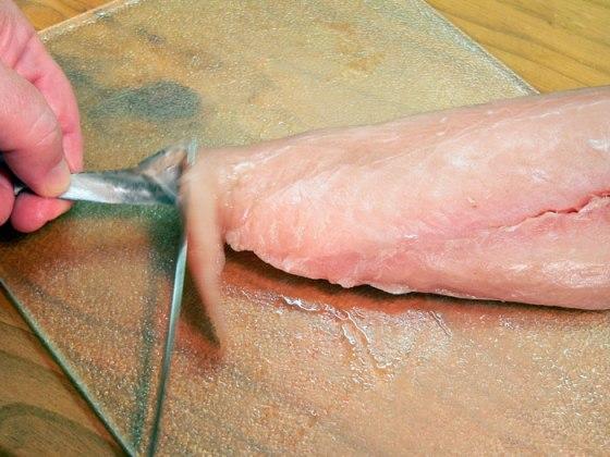 mahi-mahi recipe - grasp-skin