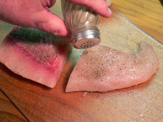 mahi-mahi recipe - add-black-pepper