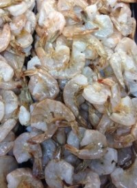Fresh shrimp caught off the coast of Brunswick County.