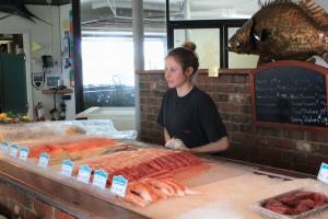Nikki Bartle, fishmonger