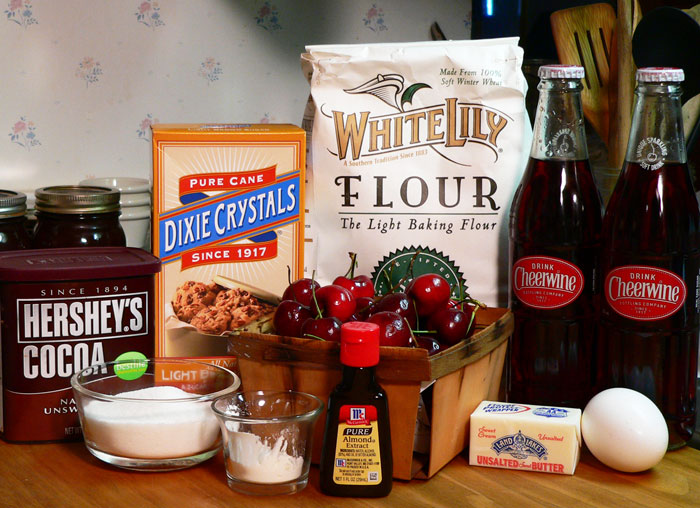Cheerwine Cherry Cobbler:  You'll need these ingredients.