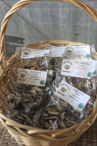 Muddy Creek Farms mushrooms don't sit for long at the Morganton farmers market.