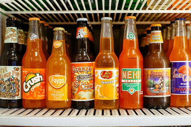 Soda bottles at Corbett's Burgers and Soda Bar