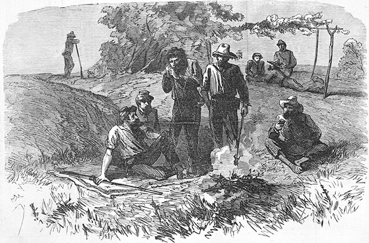 N_96_3_72 Confederate deserters in the mountains of NC