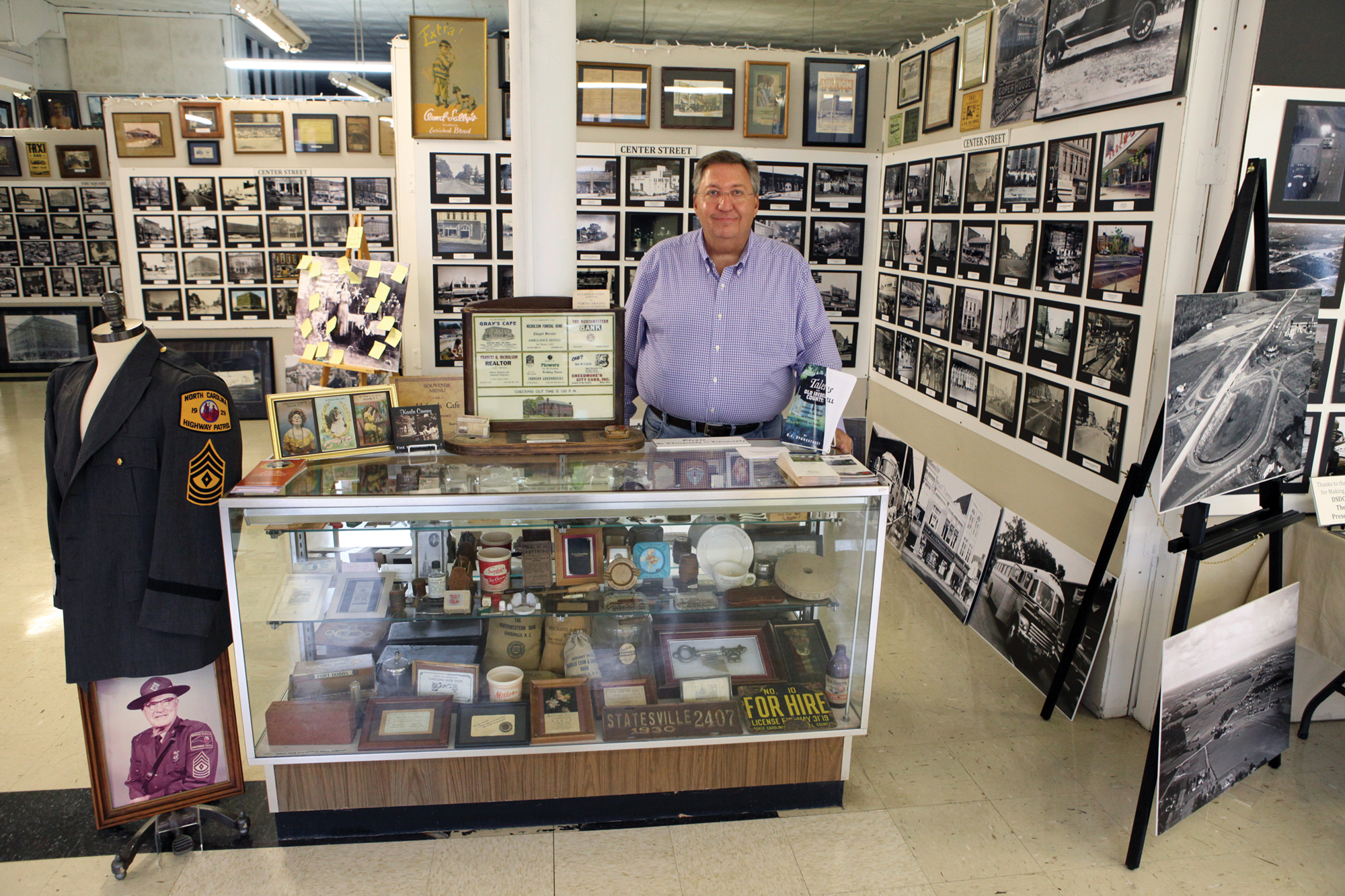 Steve Hill at the Statesville Historical Collection collects photos that show a glimpse of the town's past.