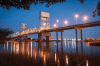 Wilmington's industrial side lights up the sky – and the river – around the Cape Fear Memorial Bridge. It's a dramatic sight, especially on film.