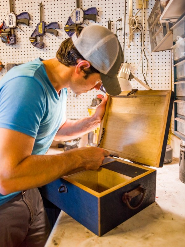 """At his home workshop, James Broyhill II carries on a tradition begun by his great-grandfather, but in an entirely different manner. As the trademark proclaims, all Heritage Handcrafted products are made wholly by hand. What's not revealed in the company's """"branded"""" name is that the products are also created entirely from whiskey and wine barrels."""